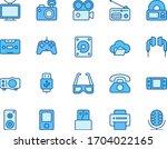 multimedia line icon. media...