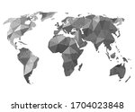 abstract geometric earth map... | Shutterstock .eps vector #1704023848