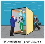 sanitize tunnel for...   Shutterstock .eps vector #1704026755