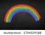 vector illustration of rainbow... | Shutterstock .eps vector #1704029188