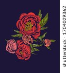 vector illustration of flowers ... | Shutterstock .eps vector #1704029362
