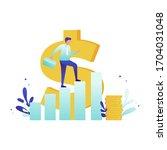 successful happy business man... | Shutterstock .eps vector #1704031048