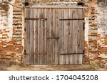 Old Cowshed. Large Wooden Gate...