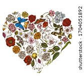 Heart Floral Design With...