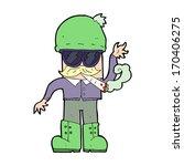 cartoon man smoking pot | Shutterstock . vector #170406275