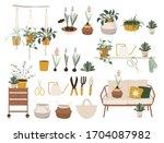hello spring time. balcony... | Shutterstock .eps vector #1704087982