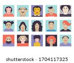 people avatar face icons  set...   Shutterstock .eps vector #1704117325