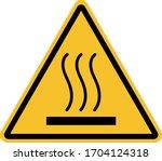 Hot Surface Warning Sign.yello...