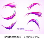 set of flowing colorful wave... | Shutterstock .eps vector #170413442