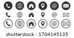 web icon  contact us icon  blog ... | Shutterstock .eps vector #1704145135
