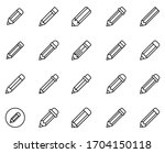 pencil line icon set....