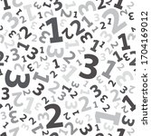 black 123 number background... | Shutterstock .eps vector #1704169012