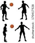 eps 10 vector basketball... | Shutterstock .eps vector #170417528