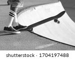 Skateboarder Ready To Drop A...