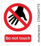 illustration of forbidden to... | Shutterstock .eps vector #1704204775