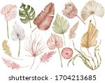 Watercolor Tropical Clipart...
