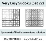 vector sudoku puzzle with... | Shutterstock .eps vector #1704218422