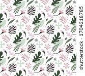 modern vector seamless pattern... | Shutterstock .eps vector #1704218785