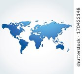 world map vector | Shutterstock .eps vector #170422148