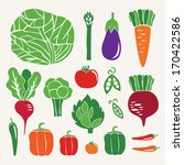 vegetable set. vector... | Shutterstock .eps vector #170422586