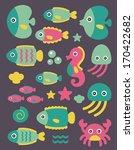 sea creatures collection.... | Shutterstock .eps vector #170422682