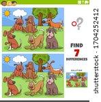 cartoon illustration of finding ... | Shutterstock .eps vector #1704252412