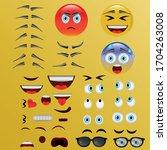 create emojis. set to create...   Shutterstock .eps vector #1704263008