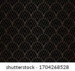 seamless art deco pattern.... | Shutterstock .eps vector #1704268528