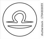 libra black line icon. zodiac...