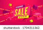clearance sale 70 off percent...   Shutterstock .eps vector #1704311362