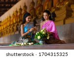 A Girl Wearing Thai Clothes...