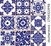 seamless patchwork tile.... | Shutterstock .eps vector #1704323998
