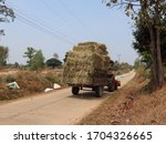 Large Straw Bales Stacked ...