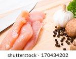 raw ingredient  chicken breast  ... | Shutterstock . vector #170434202