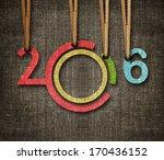 happy new year 2016   numbers... | Shutterstock . vector #170436152