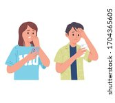vector illustration of men and... | Shutterstock .eps vector #1704365605