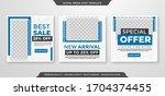 minimalist social media post... | Shutterstock .eps vector #1704374455