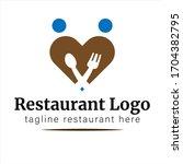 couple restaurant logo for... | Shutterstock .eps vector #1704382795