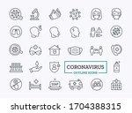 vector coronavirus covid 19... | Shutterstock .eps vector #1704388315