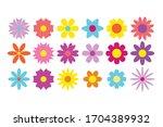 flower icon set  vector isolated   Shutterstock .eps vector #1704389932
