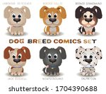 vector set with cute dogs...