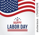 happy labor day vector greeting ... | Shutterstock .eps vector #1704393298
