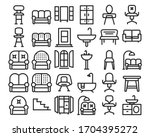 home decoration and furniture... | Shutterstock .eps vector #1704395272