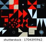 retro future inspired artwork... | Shutterstock .eps vector #1704395962
