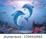 Pod Of Lovable Dolphin Family...