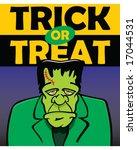 vector frankenstein with trick...   Shutterstock .eps vector #17044531