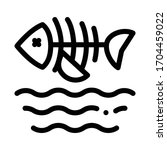 death of fish in water icon... | Shutterstock .eps vector #1704459022