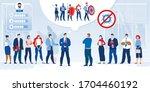 business team battle fight... | Shutterstock .eps vector #1704460192