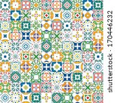 seamless mosaic pattern made of ... | Shutterstock .eps vector #170446232