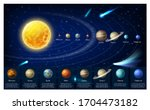 solar system planets in... | Shutterstock .eps vector #1704473182